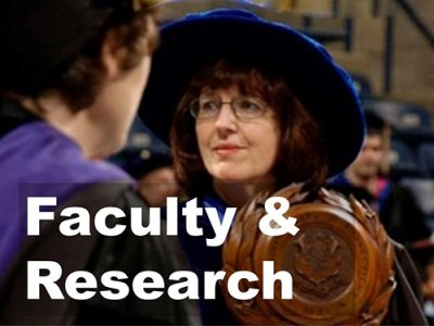 Button to click for information about faculty and their research